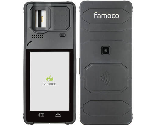 Biometric FX100 devices with front and back view