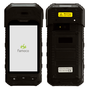 handheld device fx300 with front and back view