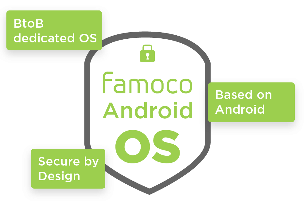 Famoco Android OS is a reprocessed Android OS for businesses