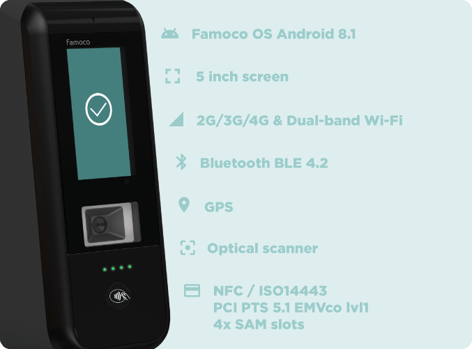 A transport ticket validator with the intelligence of the smartphone