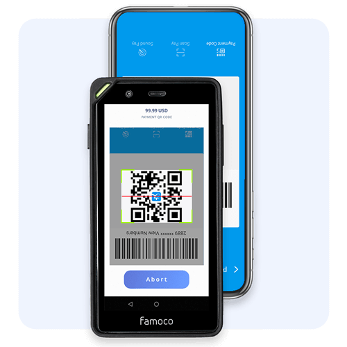 Scan QR code to accept payments. Scan, refund and cancel with ease.