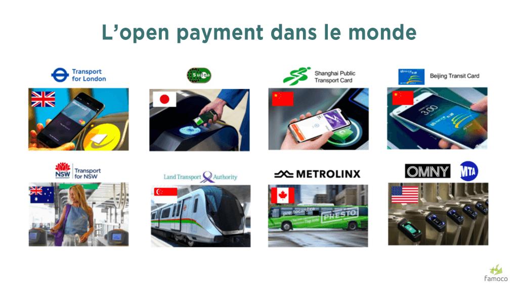 Les pays qui utilisent l'open payment