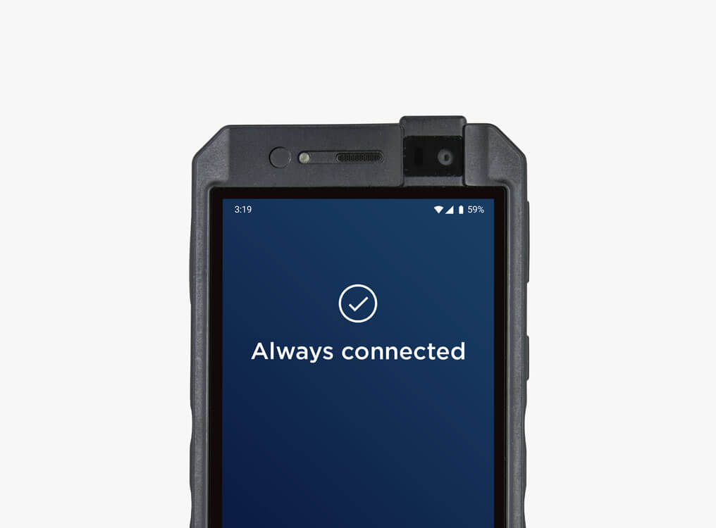 The rugged PX320 phone is always connected