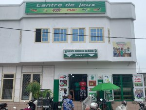 Entrance of loterie center in Benin