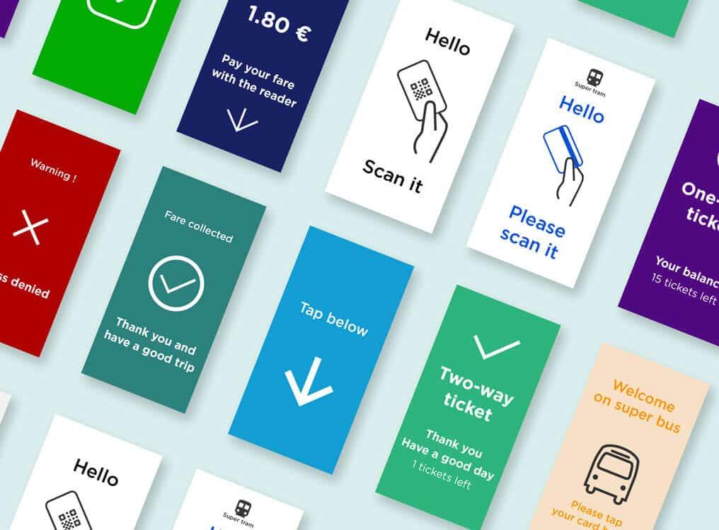 un écran de 5 pouces pour des messages utiles pour les passaagers