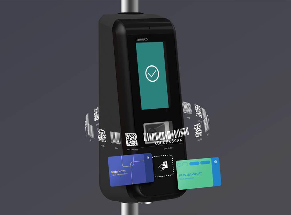 ce valideur accept les cartes NFC & les QR codes