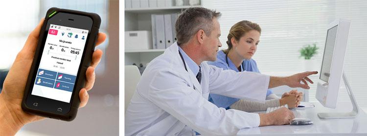 l'application medisys utilisée pour les professionnels de la santé et les patients.