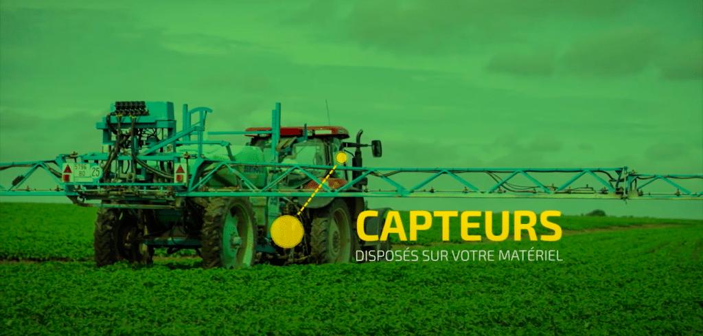 Machine agricole équipée de la solution agrinity