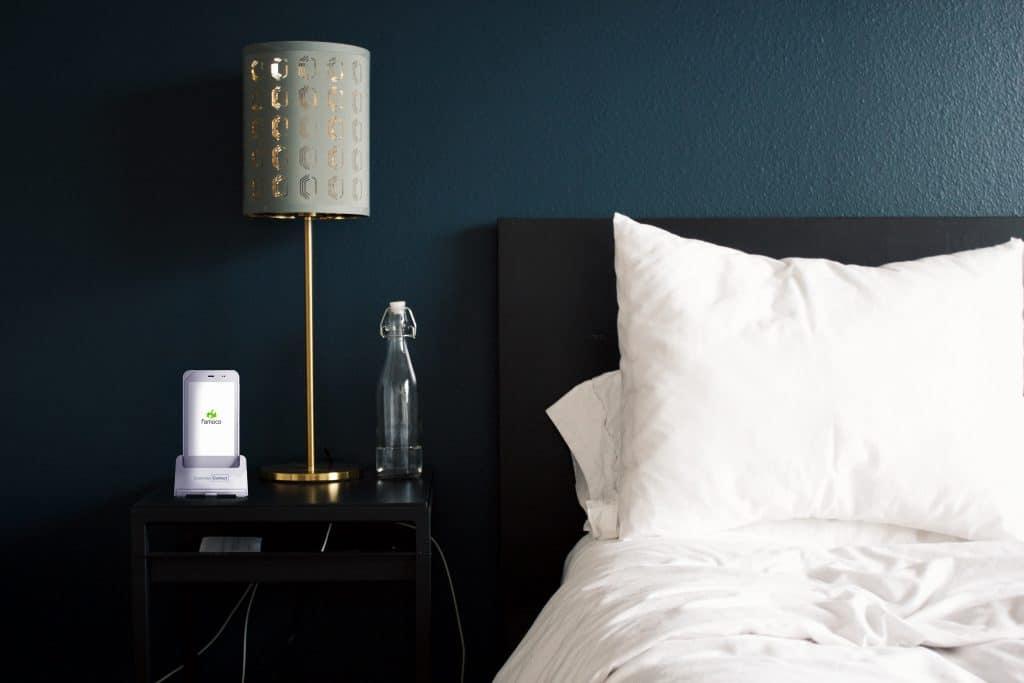 Famoco device on nightstand